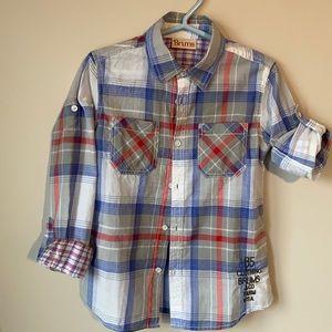 Brums - long sleeve plaid shirt size 6
